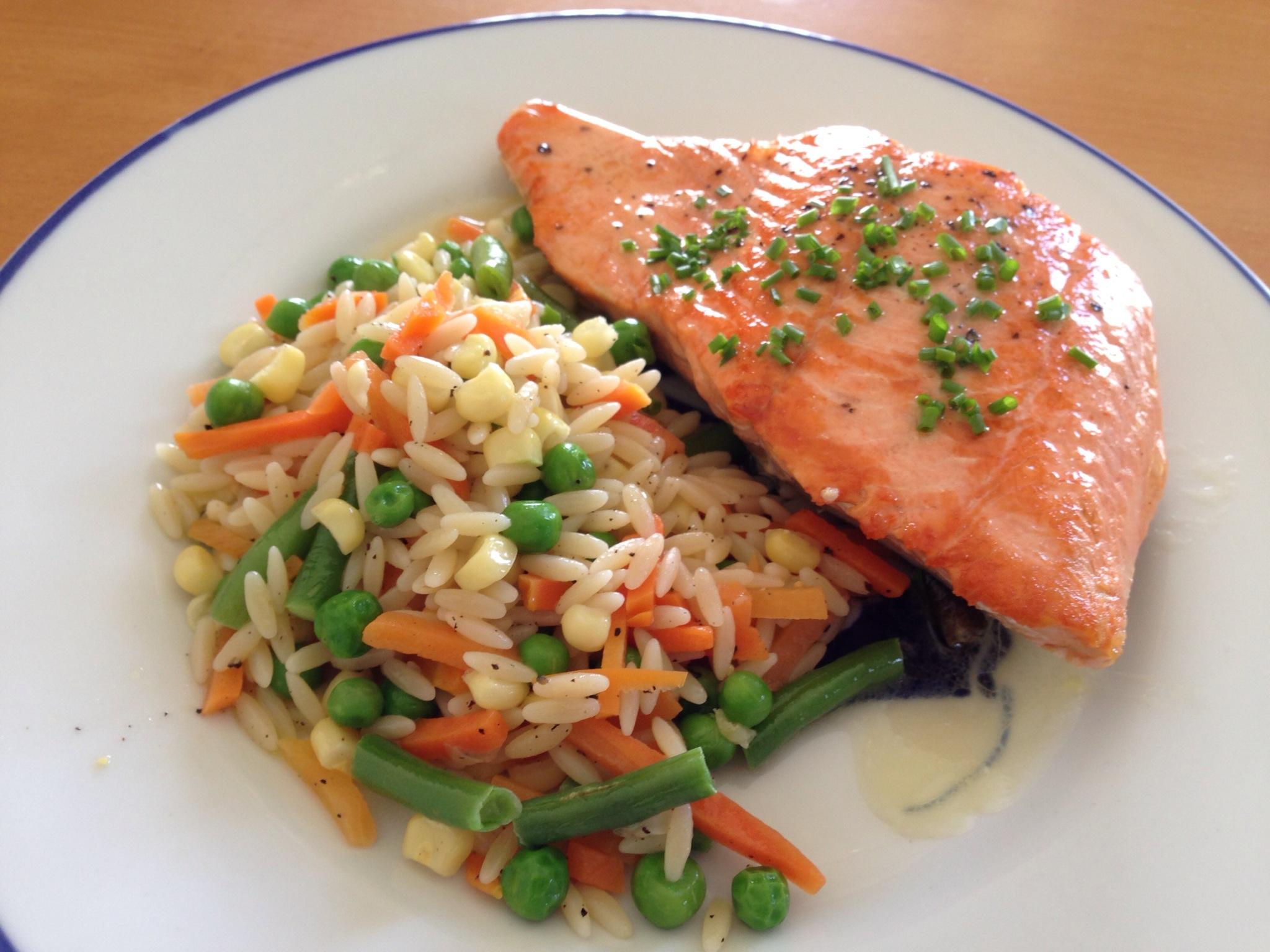 salmon vegies