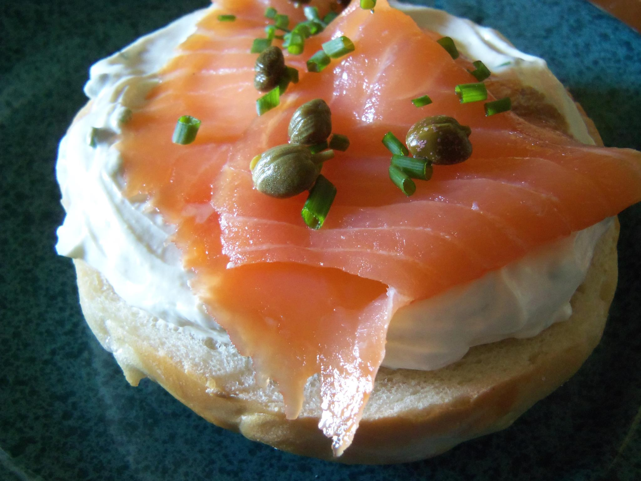 smoked salmon and bagel